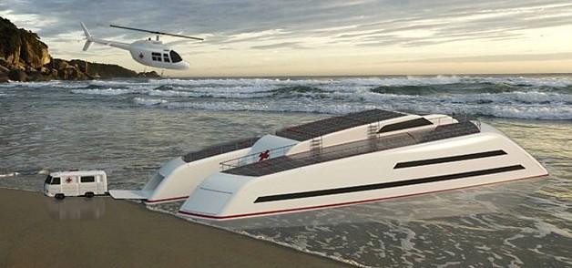 世界首艘医疗专用游艇方案获设计大奖 每月可诊治1500人
